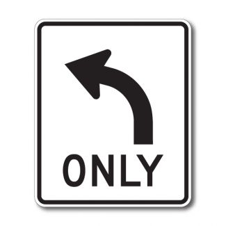 R3-5 Right/Left Only Arrow