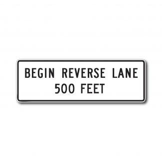 R3-9H End Reverse Lane 5 Feet