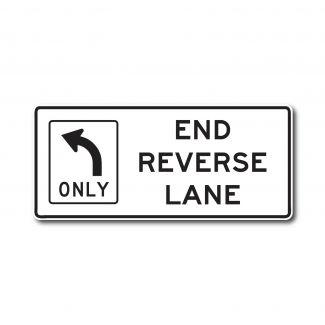 R3-9I End Reverse Lane (Arrow)
