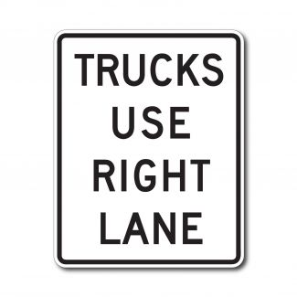 R4-5 Trucks Use Right Lane