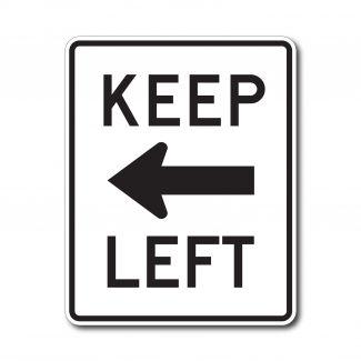 R4-8a Keep Left with Arrow