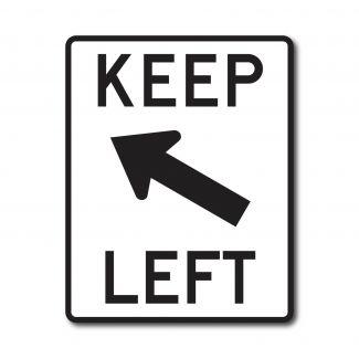 R4-8b Keep Left (w/ Arrow)