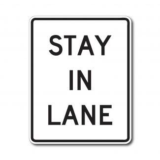 R4-9 Stay in Lane