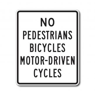R5-10a Pedestrians Bicycles Motor Driven Cycles Prohibited