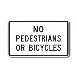 R5-10b No Pedestrians No Bicycles