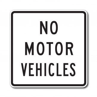 R5-3 No Motor Vehicles
