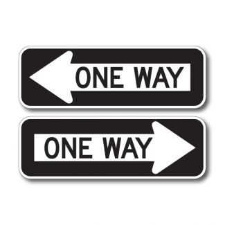 R6-1 One Way Left/Right
