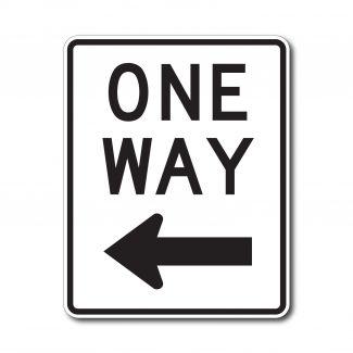 R6-2L/R One Way with Arrow
