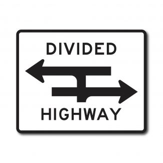 R6-3A Divided Highway Crossing
