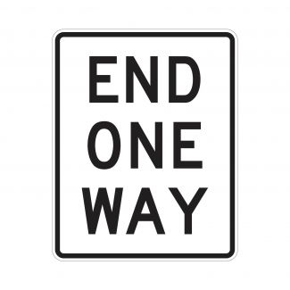 R6-7 End One Way