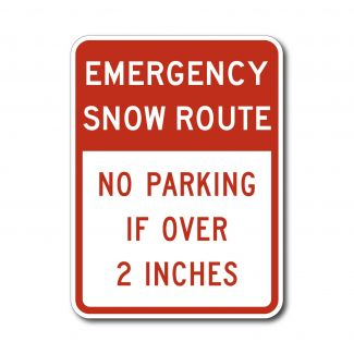 R7-203 Emergency Snow Route No Parking Over 2 Inches