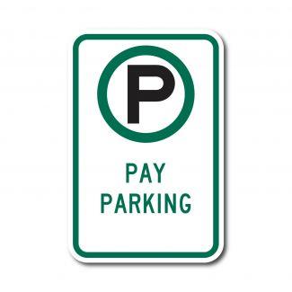 R7-22 Pay Parking (w/ Arrow)