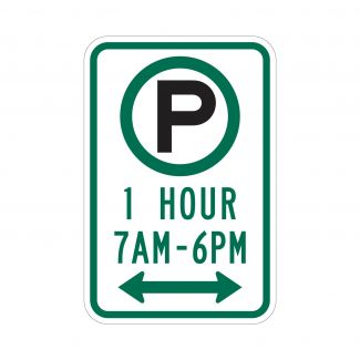 R7-23a 1 Hour Parking 7AM to 5:30PM