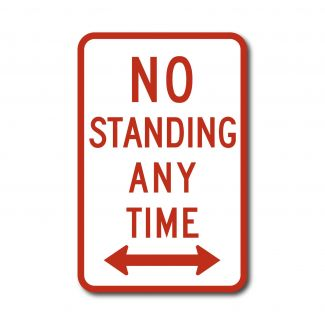 R7-4 No Standing Anytime