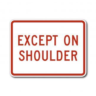 R8-3fp Except on Shoulder