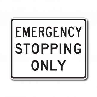 R8-7 Emergency Stopping Only