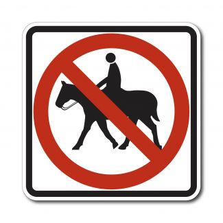 R9-14 No Equestrians