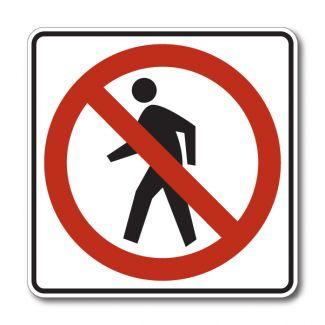 R9-3 No Pedestrian Symbol