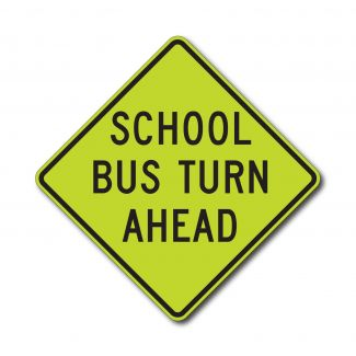 S3-2 School Bus Turn Ahead