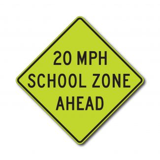 S4-5a XX MPH School Zone Ahead