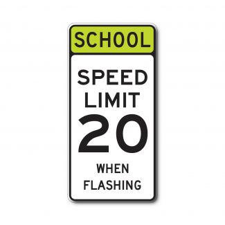 S5-1 School Speed Limit XX When Flashing (Variable)