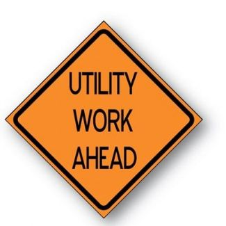 Utility Work Ahead Reflective Roll-up Sign