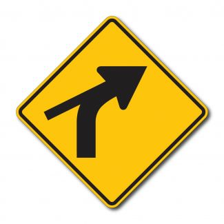 W1-10c Left Turn with Tick