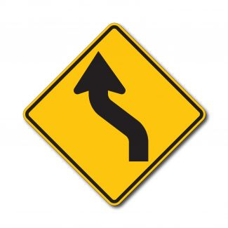 W1-4L/R Reverse Curve Arrow