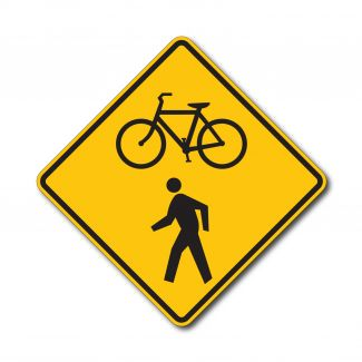 W11-15 Bicycle/Ped Symbol