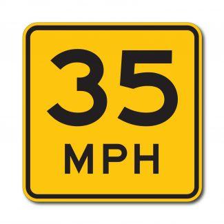 W13-1P Advisory Speed Limit (Variable)