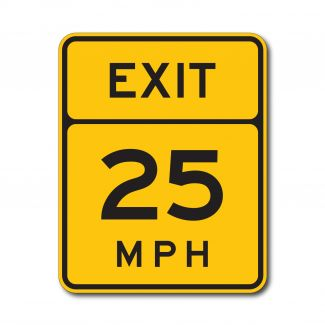 W13-2 Advisory Exit Speed Limit (Variable)