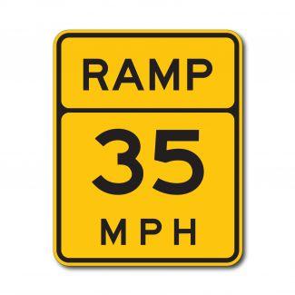 W13-3 Advisory Ramp Speed Limit (Variable)
