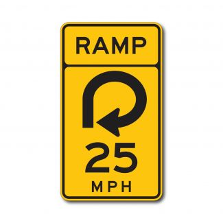 W13-7 Ramp Exit Speed Limit (Variable)