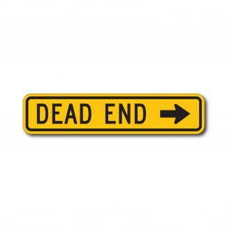 W14-1a Dead End w/ Arrow