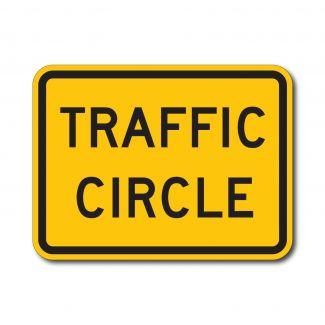 W16-12P Traffic Circle
