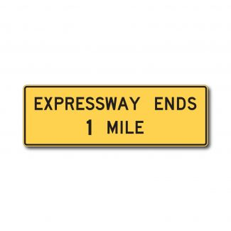 W19-2 Expressway Ends X Miles
