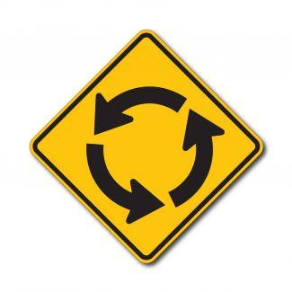 W2-6 Roundabout Symbol