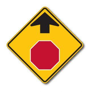 W3-1 Stop Ahead Symbol