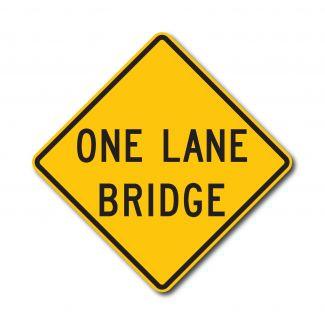 W5-3 One Lane Bridge