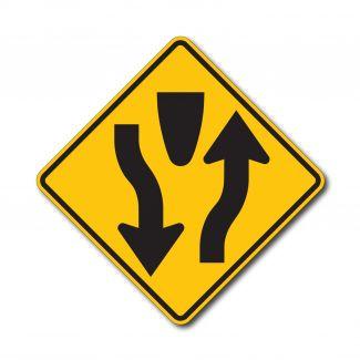 W6-1 Begin Divided Highway Symbol