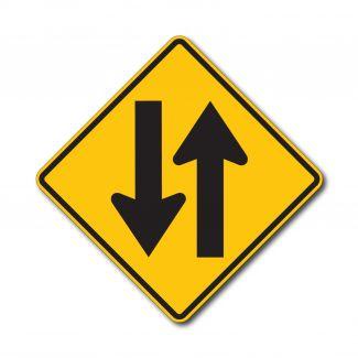 W6-3 Two Lane Road
