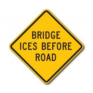 W8-13 Bridge Ices Before Road