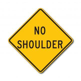 W8-23 No Shoulder