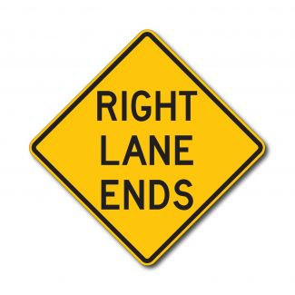 W9-1 Right Lane Ends