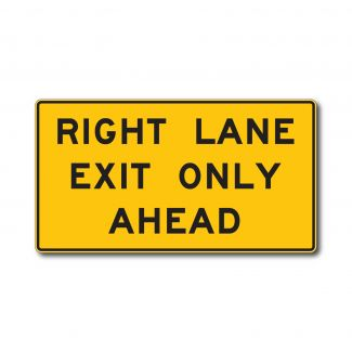 W9-7 Right/Lane Exit Only Ahead